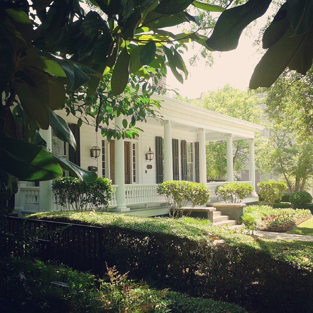 Southern architecture in Jackson, Mississippi.