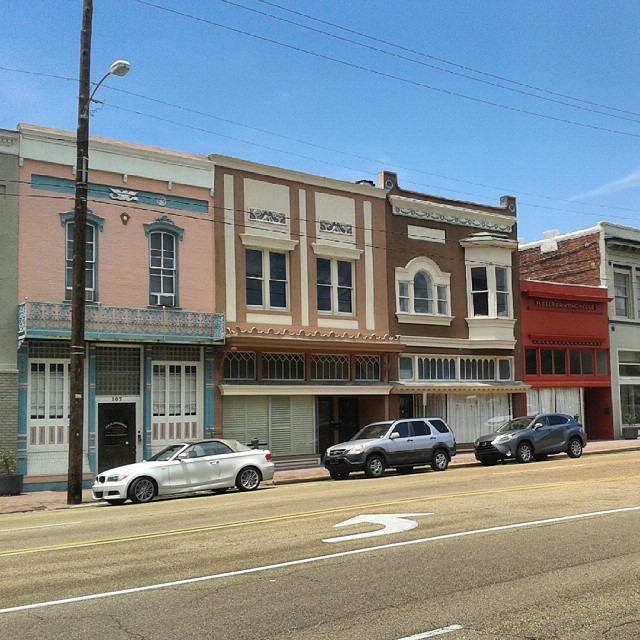 Buildings including the former Tucker Printing House in downtown Jackson, Mississippi.